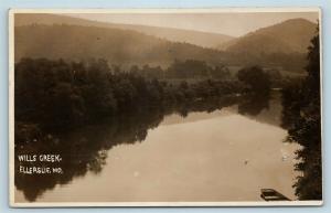 Postcard MD Ellerslie Wills Creek RPPC Photo Allegany County c1920 S7
