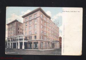 LITTLE ROCK ARKANSAS HOTEL MARION ANTIQUE VINTAGE POSTCARD MENA ARK. 1916