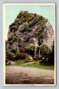 Mackinac Island MI-Michigan, Sugar Loaf Vintage Postcard