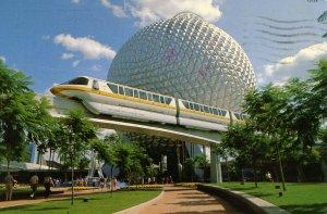 FL - Orlando. Walt Disney World. Epcot Center, Monorail, Spaceship Earth