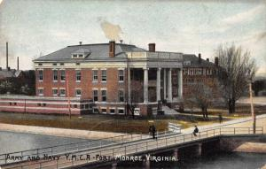 Monroe Virginia Army and Navy YMCA Fort Antique Postcard J46874