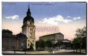 Postcard Old Darmstadi Neues Museum Hoftheater