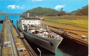 Panama Old Vintage Antique Post Card New Grace Line Vessel Writing on back
