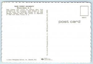 WINSTON SALEM, NC ~ Wait Chapel WAKE FOREST UNIVERSITY c1970s  4x6 Postcard*