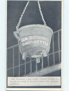 Pre-1907 CAMP KETTLE CAPTURED IN REVOLUTIONARY WAR BATTLE Saratoga NY hp9400