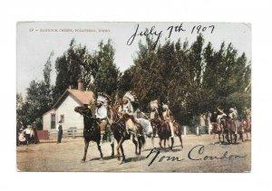 Vintage Postcard POCATELLO IDAHO Bannock Chiefs horseback Native American 1907