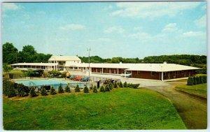 NORRISTOWN, Pennsylvania PA  Roadside  CROSS ROADS MOTEL  ca 1960s Postcard