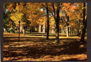 ME Bowdoin College Fall Foliage Season Campus Brunswick Maine Postcard