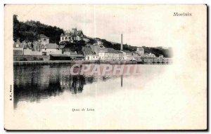 Old Postcard Morlaix Quai Leon