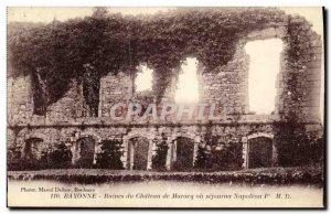 Old Postcard Bayonne Ruins Du Chateau De Maracq where stayed Napoleon 1st
