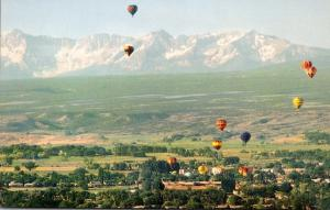 Colorado Montrose Panorama With Hot Air Balloons