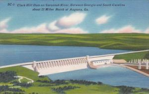 Clark Hill Dam On Savannah River Between Georgia And South Carolina About 22 ...