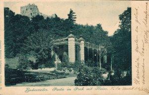 Germany - Badenweiler Partie im Park mit Ruine Posted 03.37