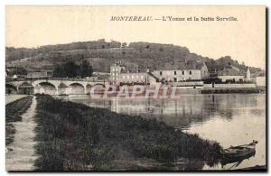 Old Postcard Montereau L & # 39Yonne and Surville mound