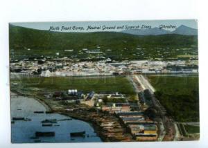 144669 GIBRALTAR Neutral Ground Spanish Lines Vintage postcard