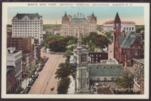 Bird's Eye View Showing Official Buildings,Albany,NY