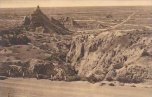 South Dakota Wall Vampire Peak Cedar Pass Badlands National Monument Albertype