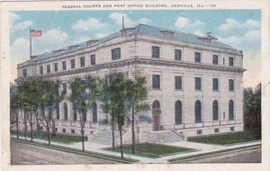 Illinois Danville Federal Courts and Post Office Building 1957