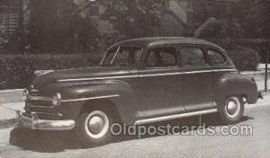 1948 Plymouth 4 Door Sedan Automotive, Autos, Cards Old Vintage Antique Postc...