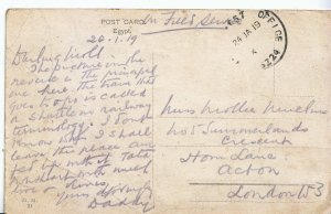 Genealogy Postcard - Family History - Mullins - Horn Lane - Acton - London A1304