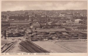 TRANSVAAL : A Gold Mine , Johannesburg , South Africa , 1910s