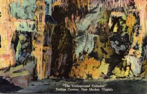 Virginia New Market Endless Caverns The Underground Cathedral 1960