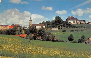 Switzerland Vaulruz Eglise et Chateau Castle Church General view