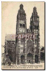 Postcard Old Tours L and L Cathedrale St Gatien Built for 3 centuries