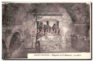 Postcard Old Saint Victor Chapel St Mauront 13th century