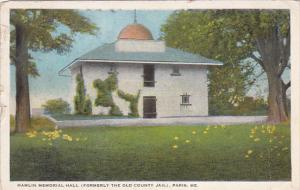 PARIS, Maine, PU-1928; Hamlin Memorial Hall, Formely The Old County Jail