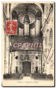 Old Postcard Cambrai Cathedral Organs