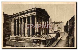 Old Postcard Vienna on the Rhone The Temple of Augustus and Livia monument bu...