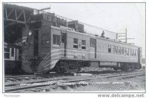 RPPC, #5012 Motor Car Ohio Railway Museum Worthington, Ohio OH, Kodak Paper