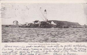 Boston Lighthouse Entrance To Harbor Boston Massachusetts 1906