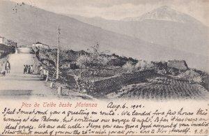 Pico de Teide Desde Matanza Tenerife Old 1902 Postcard