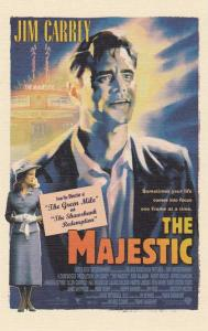 Jim Carrey in The Majestic - Movie Poster on Postcard - Linen