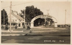 Wells ME Ocean View Park Auto Camping Grounds Real Photo Postcard