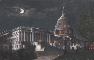 15497 DC Washington  U.S. Capitol CIty at Night Under a Full Moon