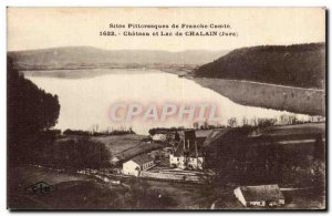 Chalain - Chateau and Lake - Old Postcard