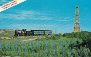 Canada Heritage Park 1905 Standard Gauge Locomotive Passes The Working Replic...