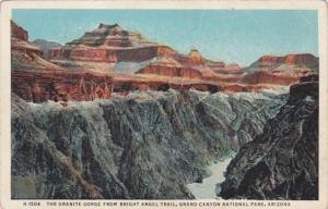 Arizona Grand Canyon The Granite Gorge From Bright Angel Trail Fred Harvey