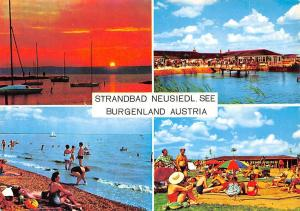 Strandbad Neusiedl See Burgenland, Sonnenuntergang Hafen Strand Terrace Beach