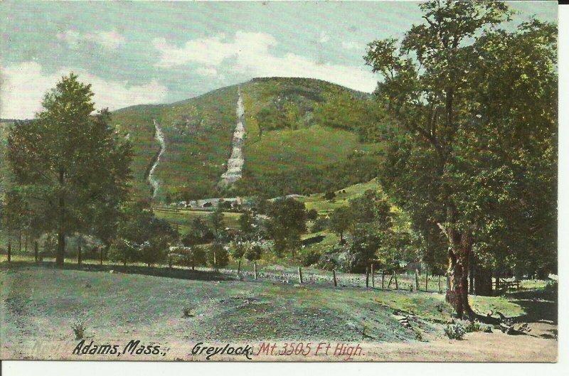 Adams,Mass., Greylock Mt., 3,505 Ft. High DB
