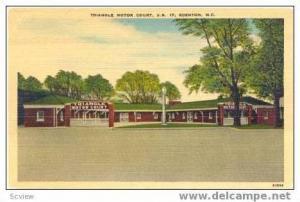 Triangle Motor Court, Edenton, North Carolina, 30-40s