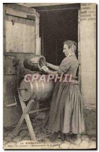 Old Postcard Folklore Normandy Dairy Handling the creme TOP