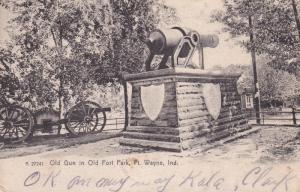 Old Gun in Old Fort Park , FORT WAYNE , Indiana ; PU-1906