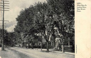 NEW BRITAIN, CT Connecticut  WEST MAIN STREET~West LARGE HOMES  c1900's Postcard