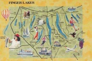 FINGER LAKES , New York , 1970s ; Map
