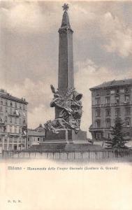 Italy Milano Monumento delle Cinque Giornate Statue