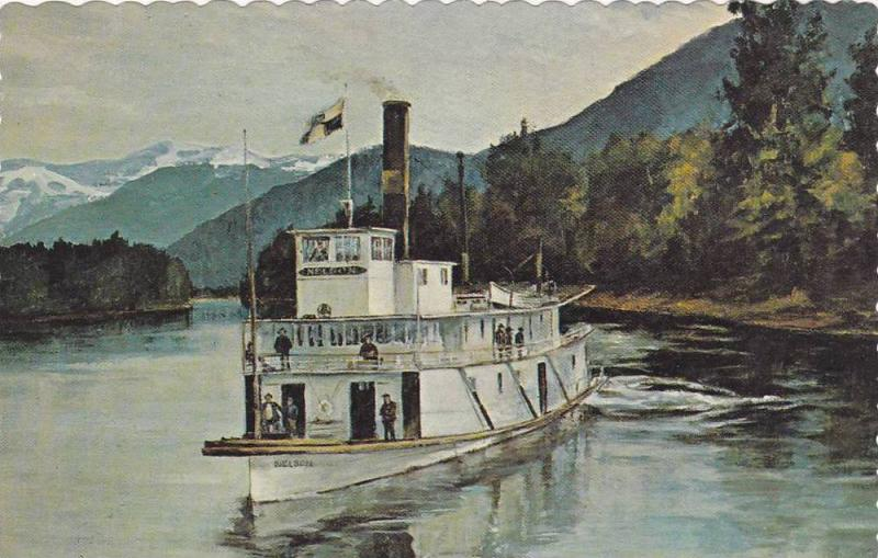 S.S. Nelson, Commanded by Captain McMorris, Original Painting by Mary Wells, ...